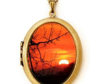Indian Summer - Landscape Photography - Photo Locket Necklace