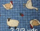 Sheep farm fabric - 2 2/3 yards x 43 inches