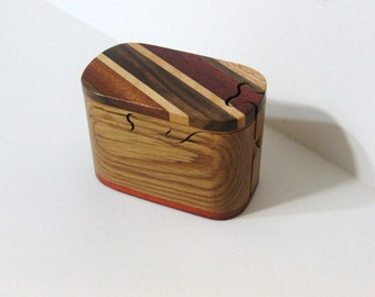 Puzzle Box Made Of Five woods
