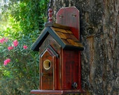 Red Outdoor Bird House 371