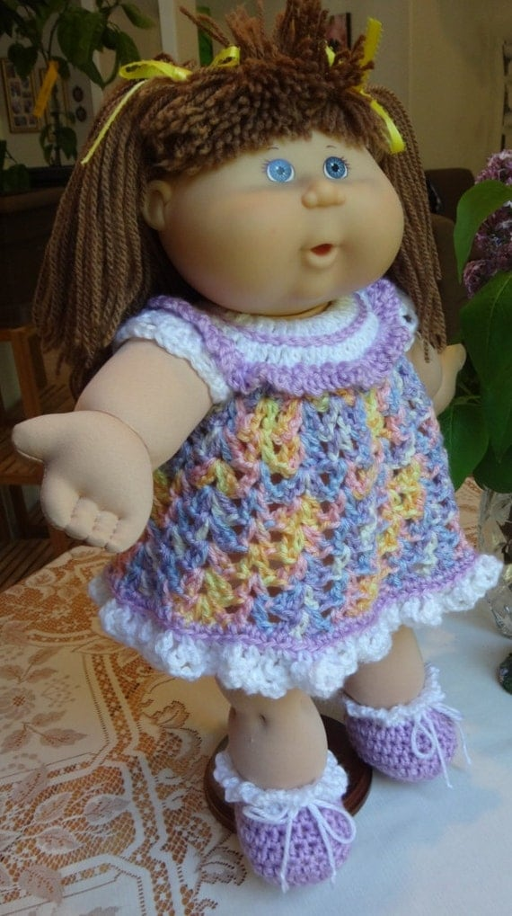 Crochet outfit 16 inch Cabbage Patch Kids baby doll Dress