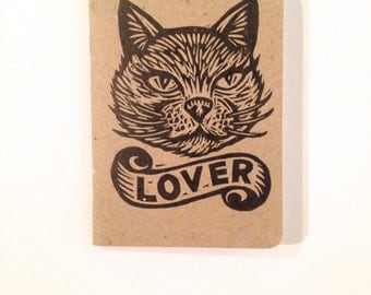 Pocket Journal Notebook, Cat Travel Journal, Cat Lover Notebook, Pocket Moleskine, Small Sketchbook