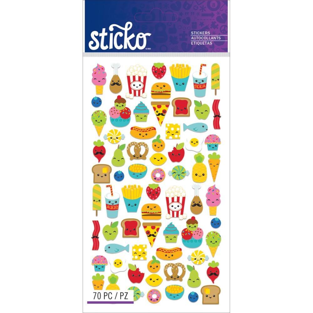 Mini Food Characters Sticker Kawaii Food Stickers 2 Packs