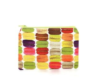 French Macaron Zipper Pouch / Cute Macaroon Makeup Bag / Camera Bag
