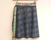 S/M Perol Short Skirt with Asian Floral Sash, A Line Skirt, Wrap Skirt, Short Wrap Skirt, One Size Fits Most