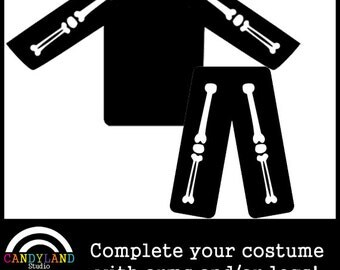 Arm & Leg Bones DIY Iron On - Matches X-Ray and Pregnant Halloween Skeleton Costume Maternity Costume