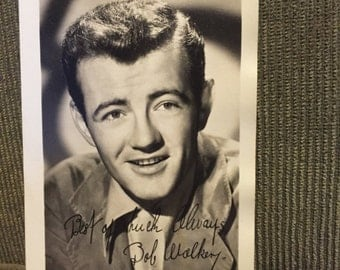 Actor Robert Walker (1918-1951) Printed signed photograph
