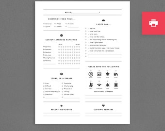 """Funny Printable Letter or Stationery for Graduation, Military Son or Daughter, Man or Woman, Children. Greeting Card. """"Please Write"""" (PM001)"""