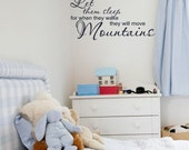 Vinyl Decals For Kids, Let Them Sleep for when they wake they will move Mountains, Childrens bedroom wall decor, Religious Decals