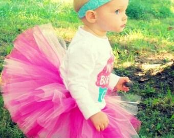 1st Birthday Outfit Girl Tutu, First Birthday Outfit Girl Tutu, Cake Smash Outfit Girl Tutu, SEWN Tutu Skirt, Tulle Skirt, Newborn Tutu Gift