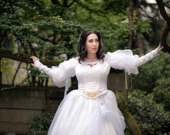 Sarahs Labyrinth Ball gown, Labyrinth Masquerade dress, Sarahs Dress from Labyrinth, bespoke wedding dress, fairy tale wedding dress,