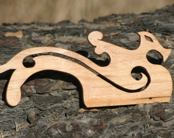 Hand Crafted Dragon Cherry / Beaters for Card / Inkle Weaving