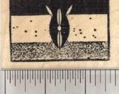 Flag of Kenya Rubber Stamp D28105 Wood Mounted