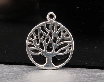 Sterling Silver Tree of Life Pendant 21mm (CG7694)