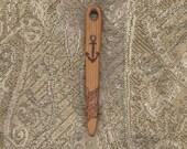 Needle Naalbinding / Nalbinding Circle Weaving Norse Weaving Needle, Norse Knitting Needle, Prim Cedar Wood ( 3 1/4 Inches Long)