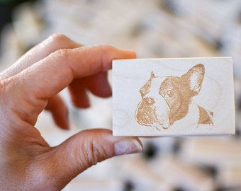 Custom Pet Portrait Rubber Stamp - Dog Portrait Stamp - Custom Stamp - Customized Stamp - Personalized - Gift Idea