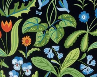 Jane Sassaman Millefleurs Blue Flowers fabric 1 yard