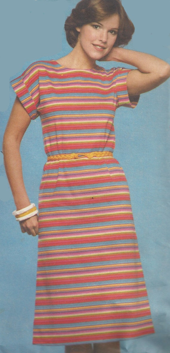 1970s Dress Pattern Butterick Vintage Sewing Knit Fabrics 1