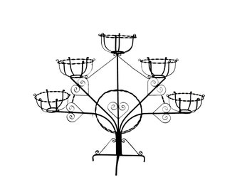 1890s Plant Stand | Wrought Iron Patio Decor | Modern Farmhouse | Outdoor Style | Garden Room Display