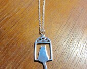 Cat In Window Necklace, Sterling Silver