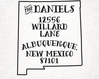 New Mexico Personalized Return Address State Stamp