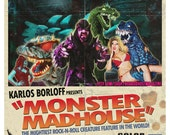 Monster Madhouse 11x17 Poster Print