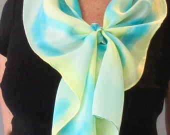 A Touch of Color Hand Painted Silk Scarf