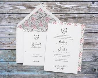 Modern wedding invitations, Monogram Wedding Invitations, Calligraphy Wedding Invitations, Custom Wedding Invites, Cool Wedding Invitations