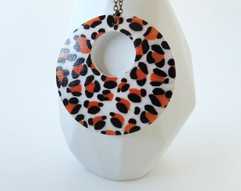 Safari Cheetah Print Donut Necklace - 'Into The Wild'