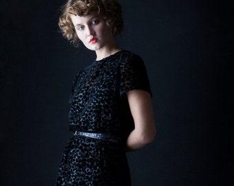 SALE - Taper Dress - 'Moonlight' Velvet Dress