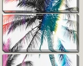 As Seen In GLAMOUR UK - Giclee Photography, Canvas Art, Palm Tree Decor, Modern, Contemporary, Bright, , Black and White, Colorful, 3 panel