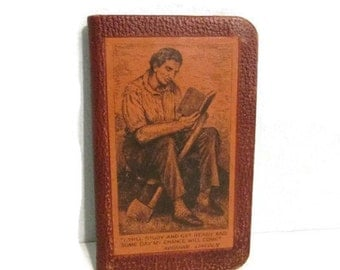 Vintage Winston Self Pronouncing dictionary - 1941 - Abraham Lincoln cover - 5 x 3 inches