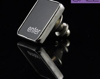 SALE - Computer Key Accessories - rePURPOSED Mac Enter Key Tie Tack or Pin
