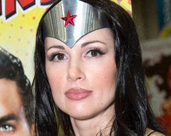 Tiara DC 52 GORGEOUS Genuine Metallic Steel Look Justice League Wonder Woman Tiara only...