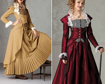 Victorian Steampunk Costume Dress -Simplicity 2172 Sewing Pattern US sizes 6, 8, 10, 12 or 14, 16, 18, 20, 22 New uncut