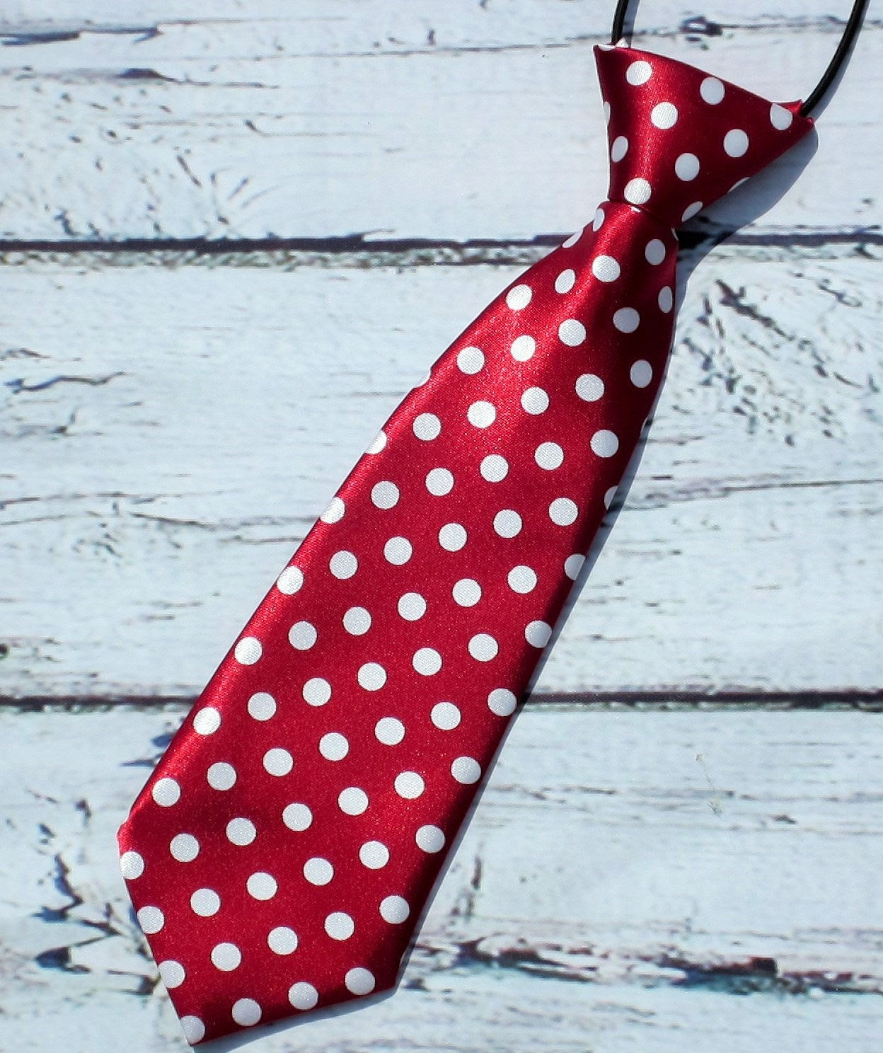 crimson polka dot necktie baby tie boys necktie infant
