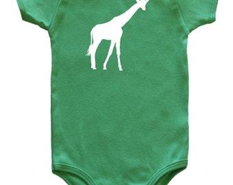 Safari Animal Silhouette Baby Bodysuit-Giraffe
