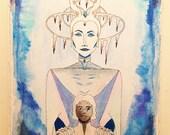 The Snow Queen - Original Ink Painting