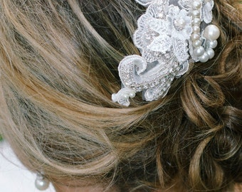 Wedding Headpiece  Lace Applique Bridal Headpiece