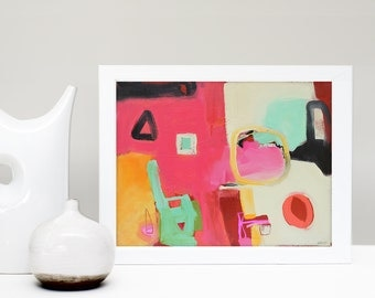 Abstract Art Print, Contemporary Art, Gallery Wall Art, Colorful Painting