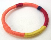 soft bangle bracelet flexible wrapped bracelet tribal style design large 2958