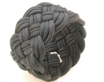 black paracord rope bracelet slip on cuff armband turks head knot bracelet 2561