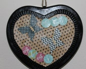 Heart Mixed Media wall hanging