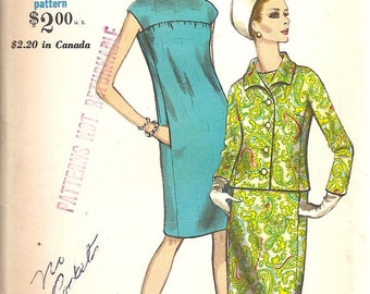 1960s Vogue Pattern - Vintage  Sewing Pattern -1960s Dress Pattern -  Jackie O Suit Pattern - Vogue 7083 - Madmen - Retro Pattern - UNCUT