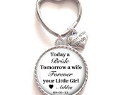 Mother of the Bride Gift, Personalized Keychain, Mother of the Bride Keychain, Wedding Kechain, Style 601