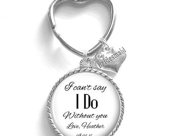 Bridesmaid Gift, Personalized Keychain, Bridesmaid Maid of Honor Matron of Honor Keychain, Wedding Kechain, Style 607
