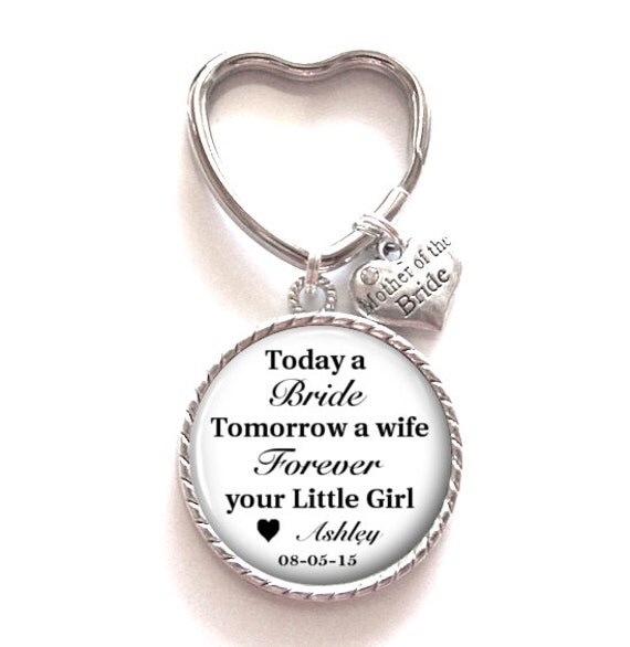 Unique Mother Of The Bride Gifts: Mother Of The Bride Gift Personalized Keychain By