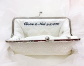Personalized Embroidery Clutch Bag Customization - 1-line message