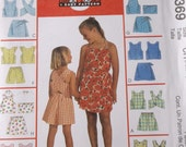 Girls Top,Short,Skorts Pattern Mccalls 9369 Childrens Size 7,8,10, Girls Summer Tops,Shorts and Skort Sets