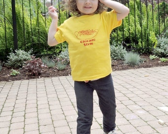 Chicago Style Hot Dog- Foodie Toddler Tee- Pick Your Size